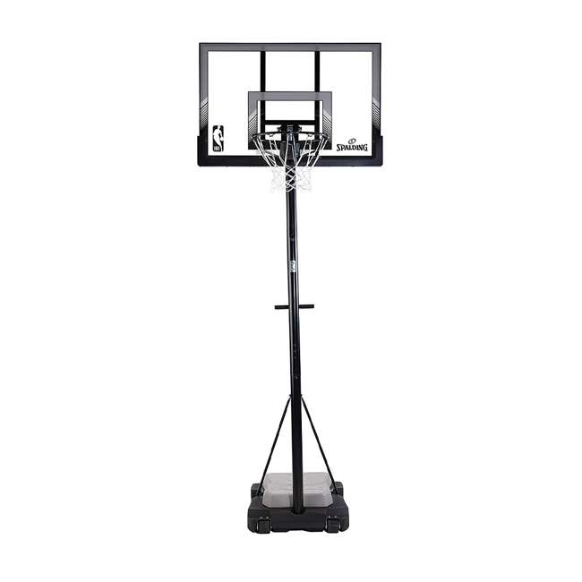 """E70964 Spalding 48"""" Acrylic Ultimate Hybrid Jr. Portable Basketball Hoop"""