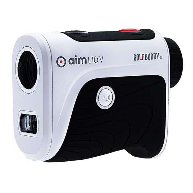 AIM-L10V + GB-BATTPACK-RG-2 GolfBuddy Aim L10V Golf Distance Talking Rangefinder + USB Charging Power Pack 1