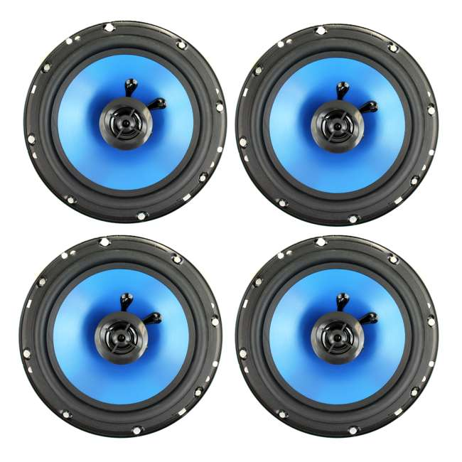 QP650 4) Q Power 6.5-Inch 300W 2-Way Blue Speakers | QP650