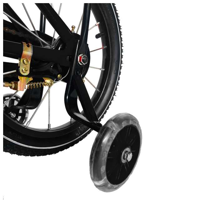 16BK-BLACK NextGen 16 Inch Childrens Kids Bike Bicycle with Training Wheels & Basket, Black 3