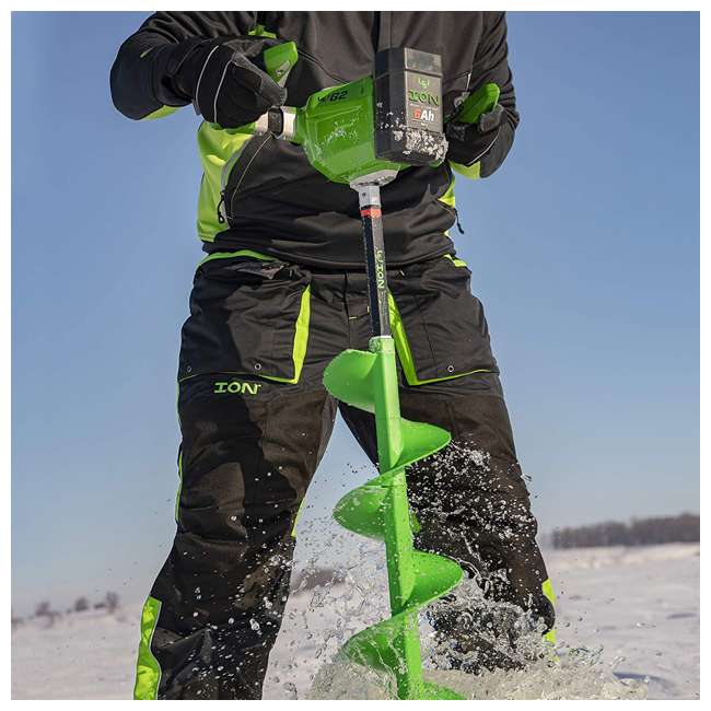 ION39350 ION G2 39350 8 Inch Lithium Ion Electric Ice Fishing Auger w/ Reverse & Battery 6