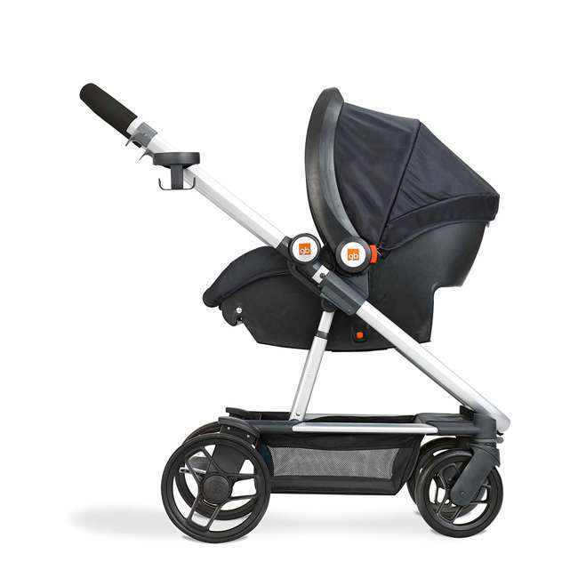 10AT2G-CHA4U GB Evoq 4 in 1 Infant Safe Car Seat Stroller Compact Travel System, Charcoal 3