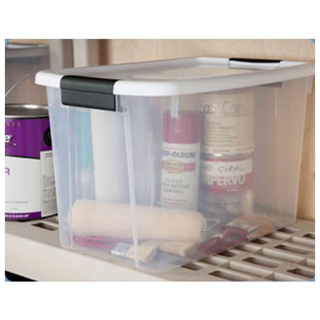 54 x 19859806-U-A Sterilite 30 Quart Ultra Latch Storage Box w/ White Lids (Open Box) (54 Pack) 2