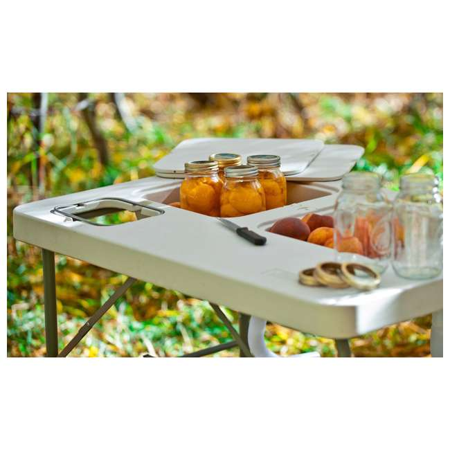 CCC-302 Coldcreek Outfitters Ultimate Portable Outdoor Prep Work Station Table w/ Sinks 2