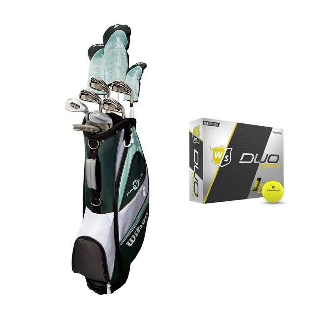 WGGC43800 + WGWP40150 Wilson Profile XLS Women's RH Graphite Golf Club Bag Set & Balls