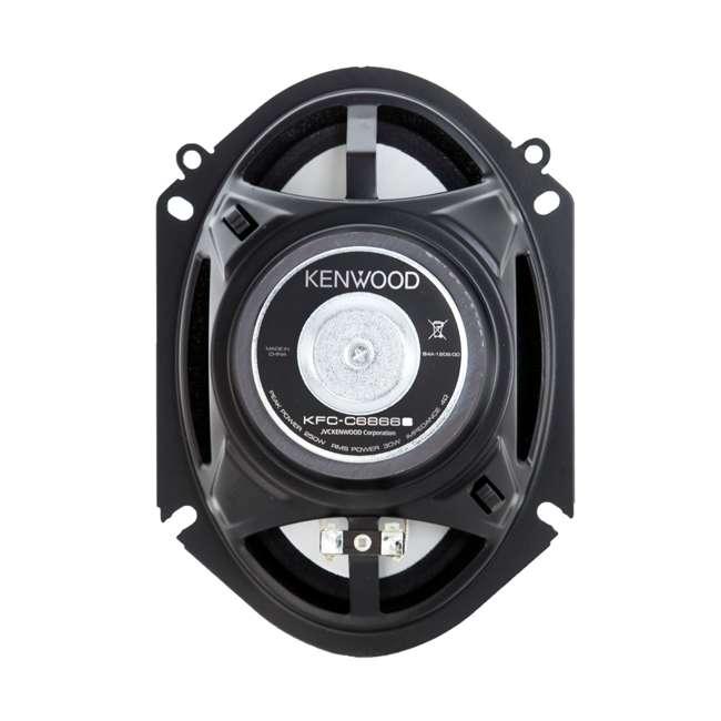 "KFC-C6866S-U-B Kenwood 6x8"" 250W 2-Way Car Audio Flush Mount Coaxial Speakers, Pair (Used) 2"