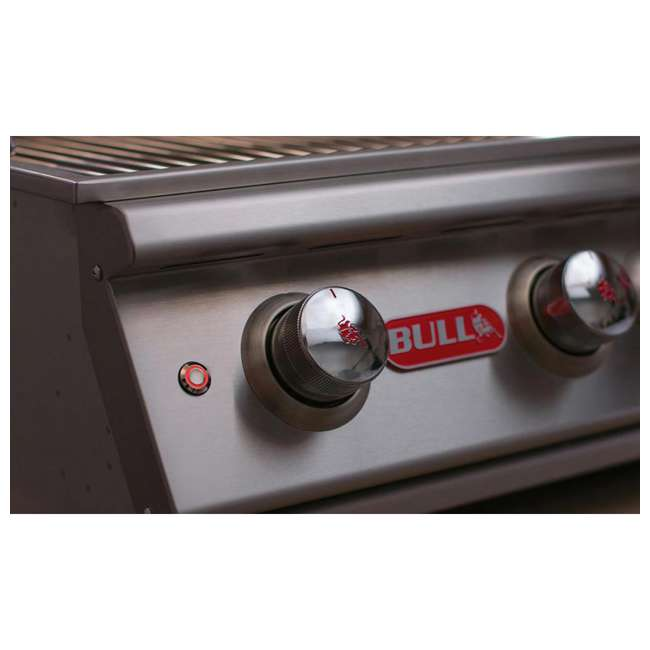 BOP-87049 Bull Lonestar 4 Burner 30'' SS Natural Gas Fired Barbecue Grill Head (Open Box) 3