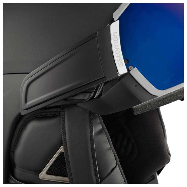 L39919356 Salomon Driver+ Mens Black & Silver Skiing Helmet with S1 & S3 Visors, Small 2