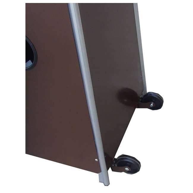 HLDS01-GTHG-U-A AZ Patio Tall Outdoor Triangle Glass Tube Liquid Propane Heater (Open Box)