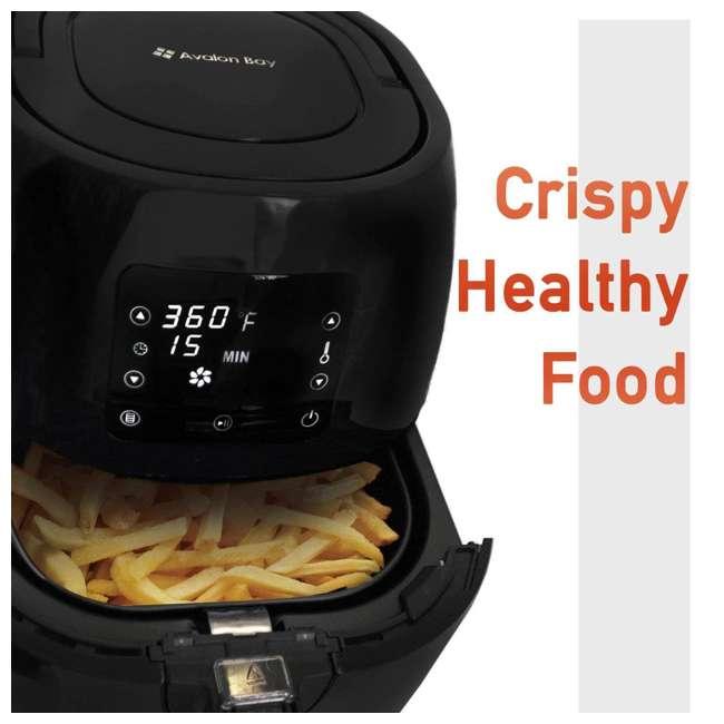AB-AIRFRYER230B Avalon Bay Air Fryer Digital Display Stainless Steel Healthy Kitchen Appliance 11