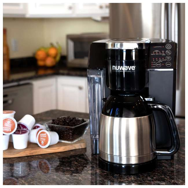 NW-45011 [Copy 1] NuWave BruHub Single Serve/Full Pot Smart Coffee Maker Brewer Machine System  3
