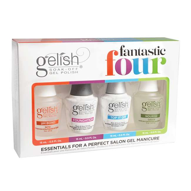 1121787-FANTASTIC-U-A Gelish Fantastic Four Gel Polish Essentials Kit (Open Box) (2 Pack) 1