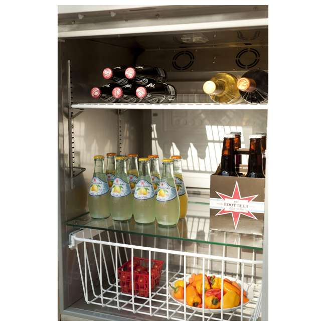 CBIR-R Coyote Outdoor 21 Inch Steel Built In Right Hinge Outdoor Refrigerator, Silver 4