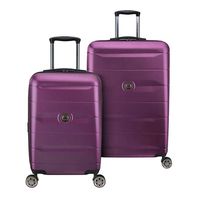 40386597308 DELSEY Paris Comete 2.0 2-Piece 21, 28 Inches Spinner Upright Travel Bag, Purple