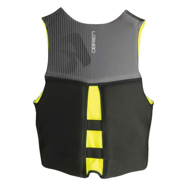 2161785-MW OBrien BioLite Series Men's Flex V Back Life Vest Size M, Yellow (2 Pack) 2