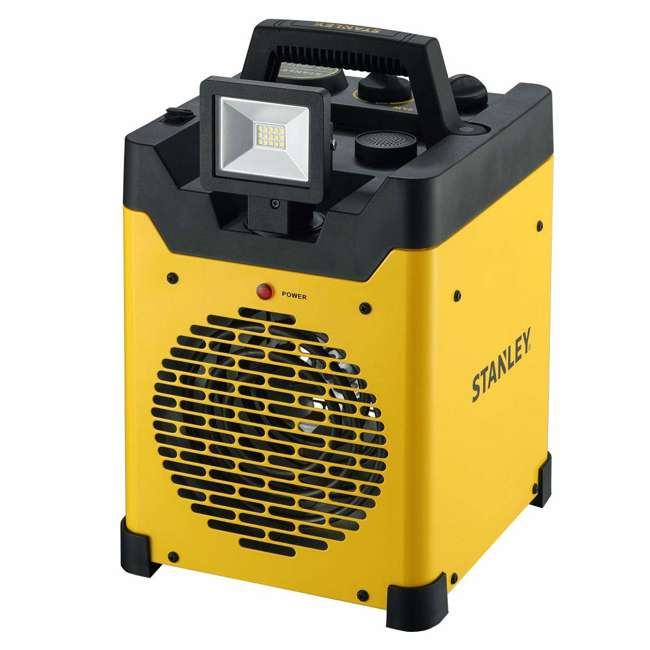ST-400LED-120 Stanley ST-400LED-120 1500W Heavy Duty Heater with LED Light and USB, Yellow