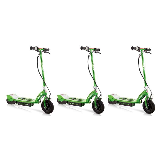 3 x 13111230 Razor Launch Electric Scooter, Green (3 Pack)