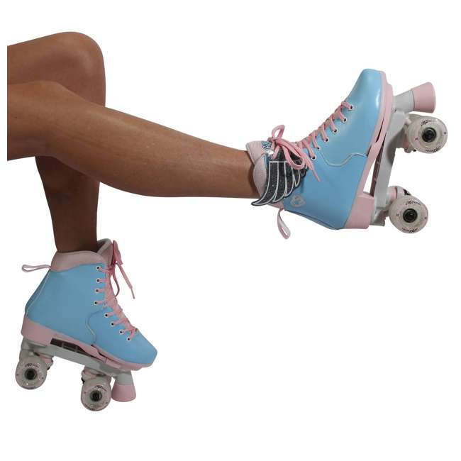 168260 Circle Society Classic Cotton Candy Kids Skates, Girls Sizes 12 to 3 10