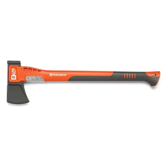 HV-PA-596282401 Husqvarna 24 Inch Steel Splitting Axe with Fiberglass Handle, Orange