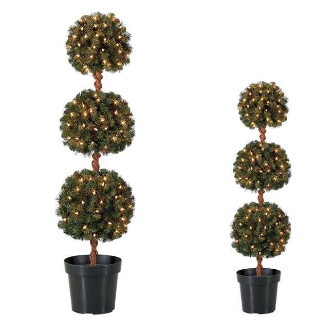 TP40M2W72C09 + TP30M2W72C00 Home Heritage 4 Foot Artificial Tree w/ Lights + Home Heritage 3 Foot Artificial Tree w/ Lights