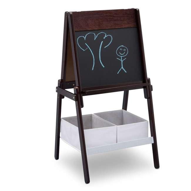 TE87600GN-207 Delta Children MySize Wooden Double-Sided Storage Basket Easel, Dark Chocolate 1
