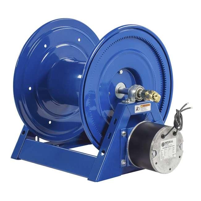 1125-4-200 Coxreels Steel Hand Crank Hose Reel 200 Foot Hose Capacity, Blue 4