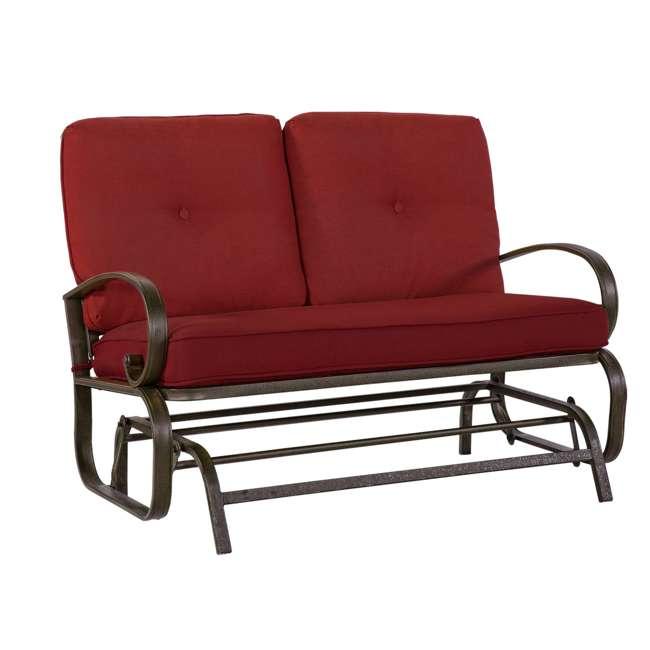 CM0002-U-B Cloud Mountain Furniture Porch Patio Loveseat Glider Sofa Couch Swing (Used)