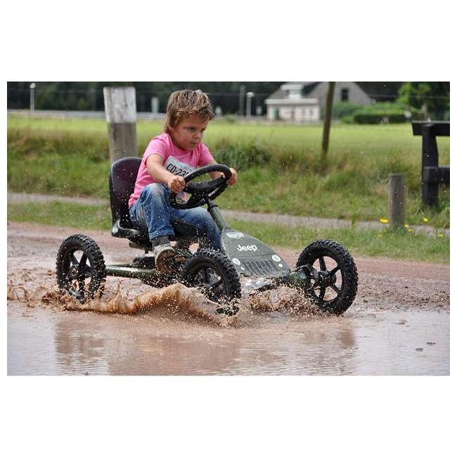 24.21.34.01 BERG Toys Jeep Junior Pedal Powered Adjustable Kid Go-Kart, Green 4