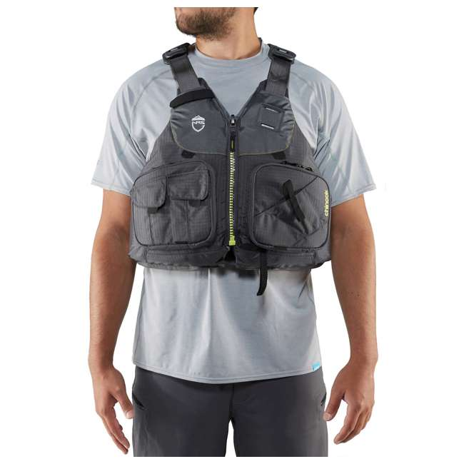 NRS_40009_04_101 NRS PFD Chinook Unisex Fishing Lifejacket, Charcoal, Small/Medium 4