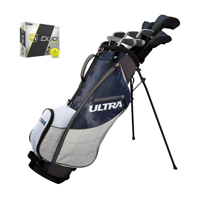 WGGC43600 + WGWP40150 Wilson Ultra Men's Right-Handed Complete Golf Club Set & Balls 11
