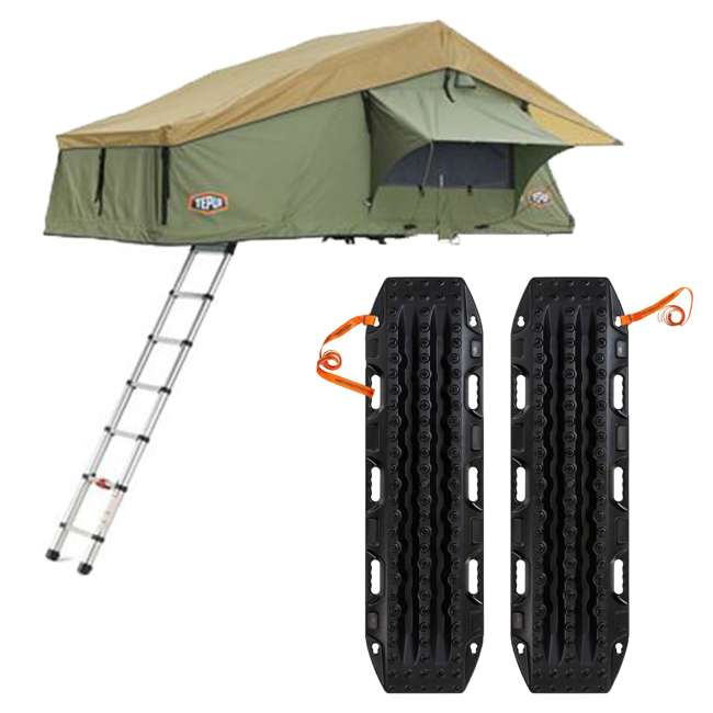 01ASK051601 + MTX02BK Tepui Explorer Autana 3 Person Car Camp Roof Top Tent & Vehicle Recovery Device