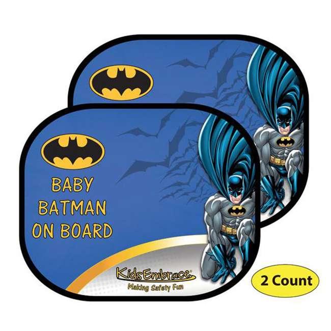 KE-9001WSBAT Kids Embrace DC Comics Baby Batman On Board Window Shade (Pair)