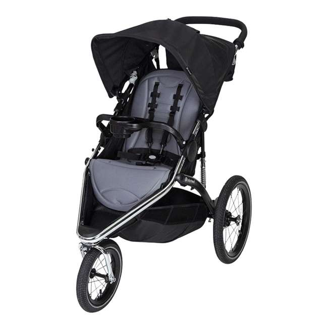 JG35A55A Baby Trend Sleek Chrome Frame Dual Suspension Falcon Jogger Stroller, Black