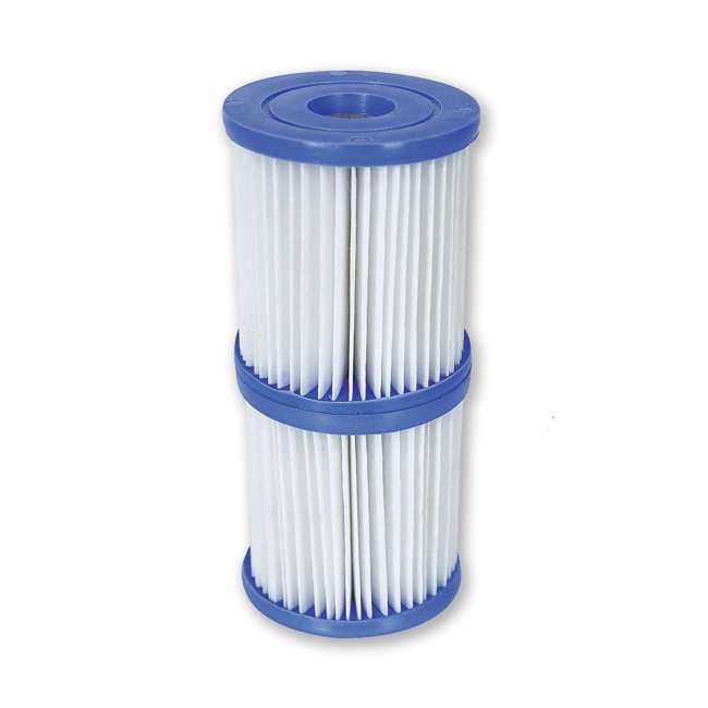 10 x 58168E-BW Bestway, Type V & Type K 330 GPH Replacement Filter Cartridge (10 Pack) 1