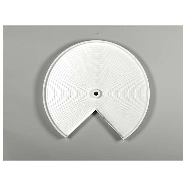 LD-2942-28-11-1 Rev-A-Shelf LD-2942-28-11-1 28 Inch White Polymer Pie Cut 2 Shelf Lazy Susan 1