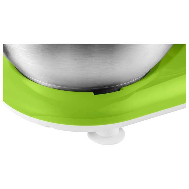 STM3621GR-NAA1 Sencor STM 3620WH 4.2 Quart 6 Speed Food Mixer with Stainless Steel Bowl, Green 9