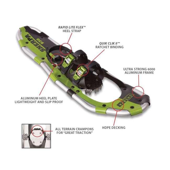 "80-5016 Yukon Charlie's Sherpa 8"" x 25"" Hiking Snowshoes, Green 4"