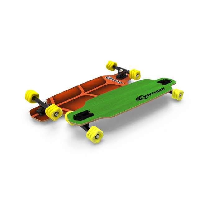 08194-SHARK Fathom by Shark Wheel Roam Mini Drop Longboard Complete, Green