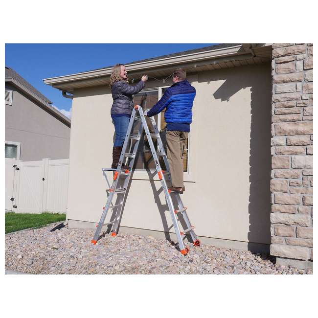 LGL-15417-104-U-A Little Giant 15' Aluminum Adjustable Folding Ladder & Work Platform (Open Box) 2