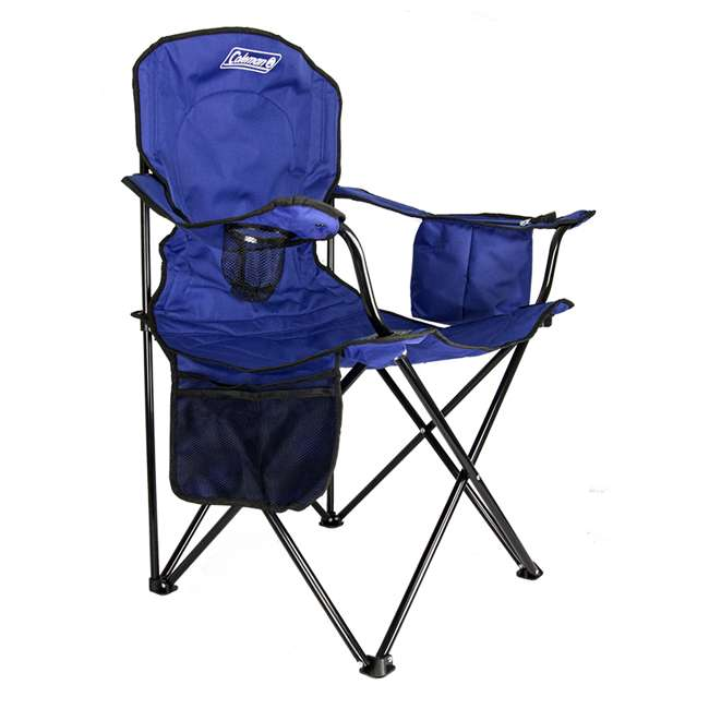Coleman Cooler Quad Chair With Built In Cooler And Cup