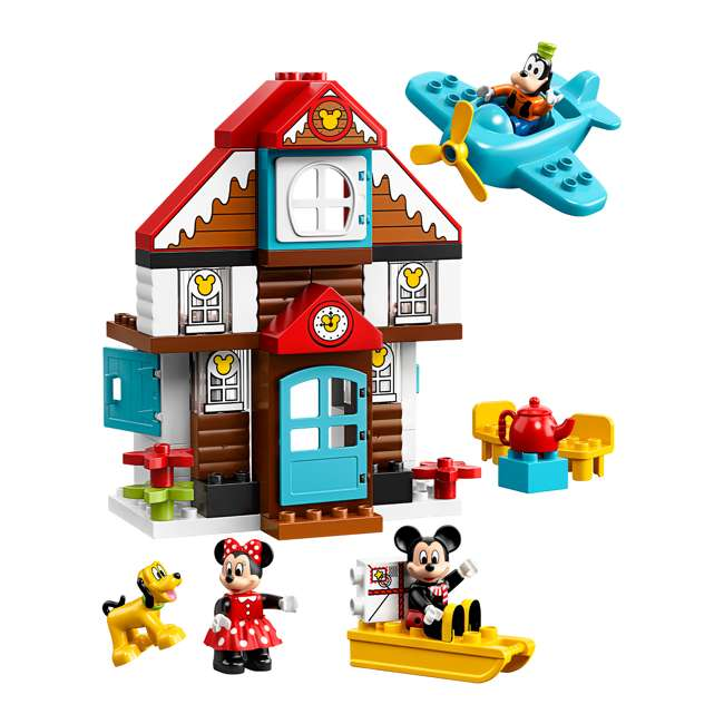 6250698 LEGO DUPLO 10889 Disney Junior Mickey's Vacation House Building Kit w/ 4 Figures