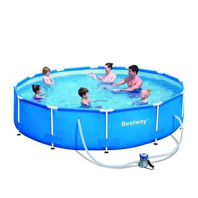 Bestway 12 39 x 30 steel pro frame pool 56061us for Bestway portable pool