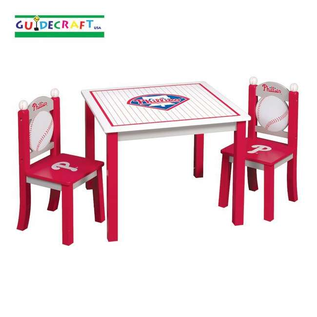 G11726 Guidecraft Phillies Table & Chairs Set