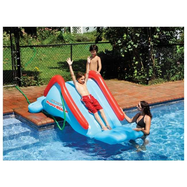 6 x 90809-U-A Swimline Super Water Slide Swimming Pool Inflatable Toy (Open Box) (6 Pack) 1