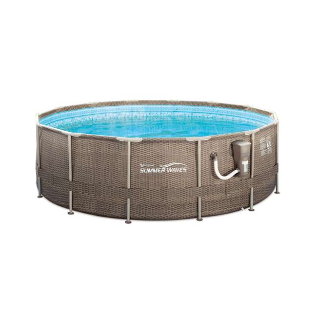 P20014482167 + K70927E00167 + KF0226B00167 14 Foot x 48 Inch Regular Frame Pool & Corona Flip-Flop Floats & Corona Cooler 1