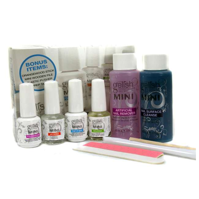 1900114-START3KIT + 1900104-FULLBASIX Gelish Mini Harmony Complete Starter Gel Nail Kit & Basix Care Kit 3