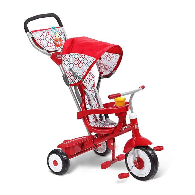 488A Radio Flyer Ultimate 4-in-1 Stroll 'N Trike Ride On, Red