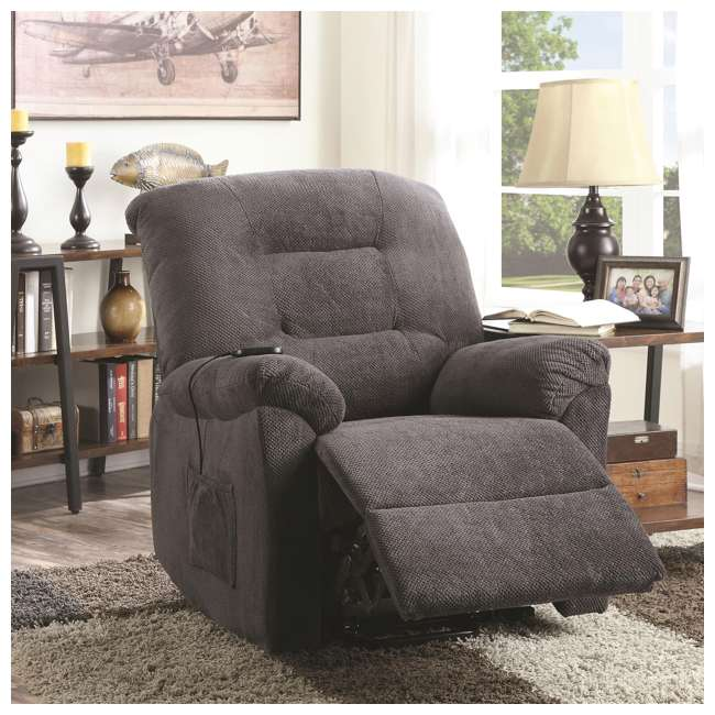 600398ii Coaster Home Furnishings Remote Power Lift Recliner, Charcoal 3