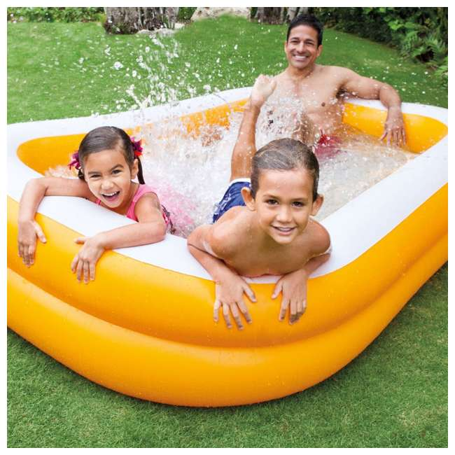 3 x 57181EP-U-A Intex Outdoor Inflatable Family Pool Swim Center, Mandarin (Open Box) (3 Pack) 4