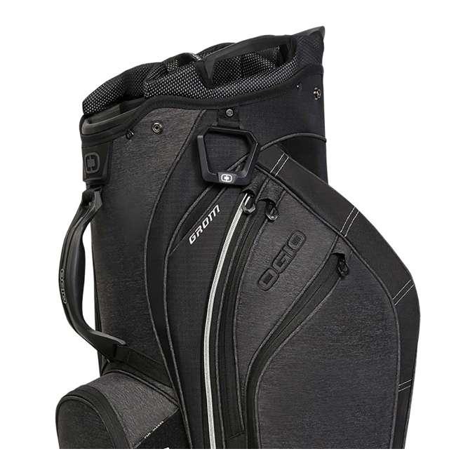 Ogio Grom 16 Way 2x Barrel Top Cart Golf Bag Dark Static